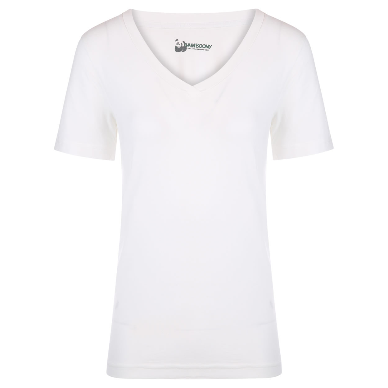 0a71f008 Luxe V-hals Dames Tshirt - wit