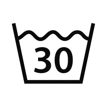 Waschgang pflegeleicht oder Feinwaschgang 40° Grad